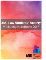 ANU LSS Wellbeing Handbook 2017