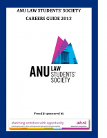 ANULSS Careers Guide 2013