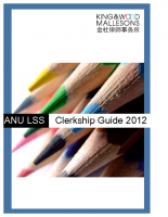 ANULSS Clerkship Guide 2012