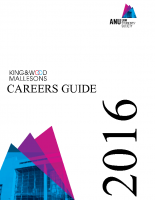 ANULSS Careers Guide 2016
