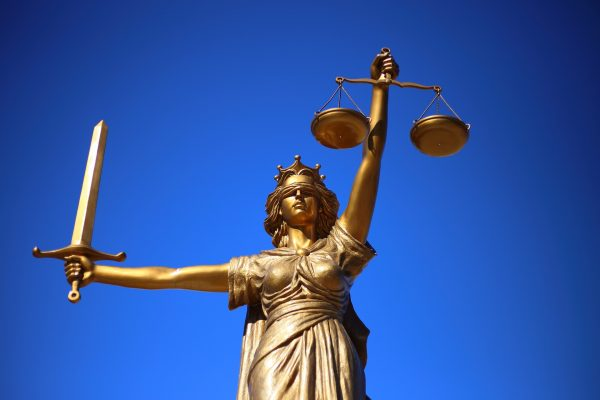 Image of Lady Justice.